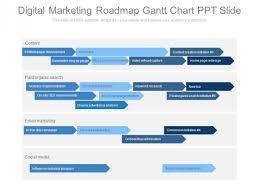 Digital Marketing Roadmap Gantt Chart Ppt Slide Powerpoint