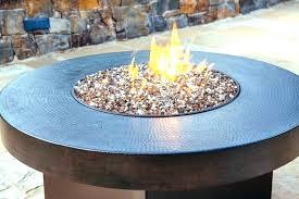 exotic glass 25 lb copper reflective tempered gas fire pit cover fireplace vast elegant burner