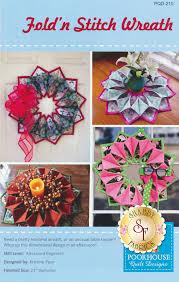 Poorhouse Quilt Design Library Video Tutorials Foldn Stitch Wreath Pattern