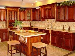 Red Floor Tiles Kitchen Kitchen Kitchen Floors With Cherry Cabinets Cherry Cabinets With