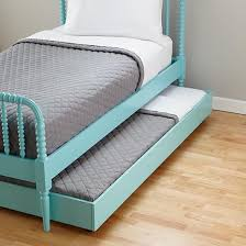 Jenny Lind trundle bed in Azure. Land of Nod. If I have a girl