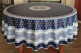french provence bastide navy white acrylic coated tablecloth french oilcloth indoor outdoor tablecloths french country home decor gifts marat avignon