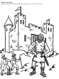 Pilgrims Progress Coloring Page 2