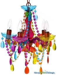 chandelier gypsy multicolor small 5 lights hardwire