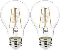 Led Light Bulbs Amazon Amazonbasics 40 Watt Equivalent Clear Dimmable A19 Led Light Bulb 2 Pack