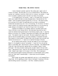 example of narrative essay about family example of narrative  family narrative essay on how i spent my summer vacation