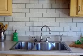 Painting Kitchen Tile Backsplash Classy Painted Subway Tile Backsplash Remodelaholic