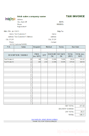 s invoice template irish s vat invoice template