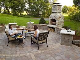 decorations wonderful structure stone outdoor fireplace combine grill for patio ideas with red tiles floor