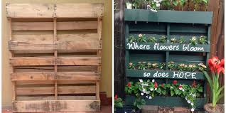 Small Picture How to Turn a Shipping Pallet Into a Vertical Garden DIY