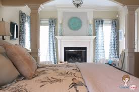 master bedroom with sitting room. Atta Girl Says Blue And White Master Bedroom Sitting Room With O