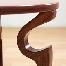 round wooden end table new solid wood tea walnut minimalist modern home living room antique furniture