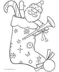 Small Picture Christmas Stocking Coloring Pages 002