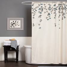 shower curtain for gray bathroom. amazon.com: lush decor flower drop shower curtain, 72-inch by 72-inch, ivory/blue: home \u0026 kitchen curtain for gray bathroom