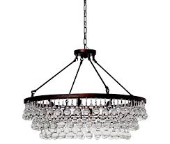 celeste glass drop crystal chandelier oil rubbed bronze