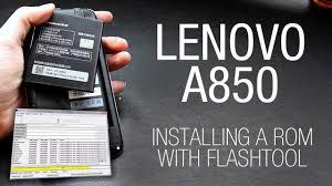 Lenovo A850 - Installing a custom ROM ...