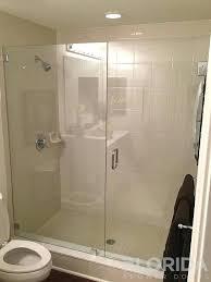 excellent frameless glass shower door panel 3 8 glass inline door panel secured with glass clamps excellent frameless glass