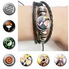 fashion anime naruto shippuden necklace pendant glass dome cabochon uzumaki uchiha sasuke jewelry accessories gift