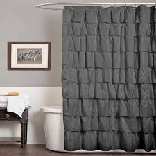 modern gray shower curtain