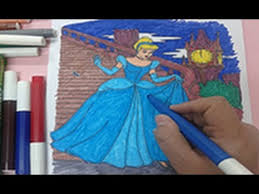 Speed Coloring How To Color Cinderella Coloring Pages Colouring