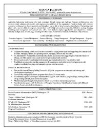 Public Administration Resume Sample Hr Administrator Resume Sample Jackson Shania Professors Admin Assi 10