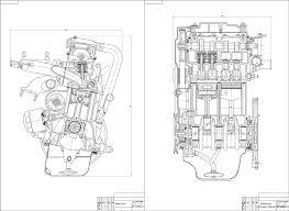 Курсовые и дипломные работы автомобили расчет устройство  Чертежи Двигатель ВАЗ 2111
