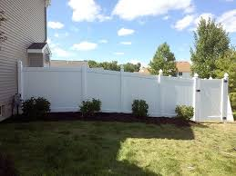building a fence on uneven ground vinyl fence replacement
