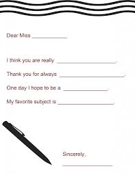 Teacher Appreciation Gift A Letter To Your Teacher Printable