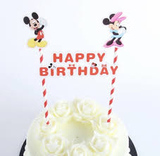 New Disney Mickey Minnie Mouse Themed Party Happy Birthday Cake