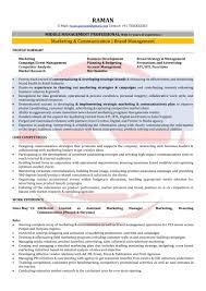 Resume For Marketing Manager Fresh Marketing Manager Sample Resumes