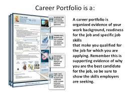 Work Portfolio Job Interview 3 Career Portfolio E Portfolio Lessons
