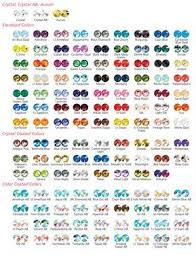 Swarovski Color Chart For 2014 In 2019 Beaded Jewelry