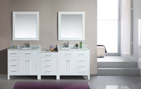 Dual Bathroom Vanities Furniture Adorna 92 Inch Transitional Double Sink Bathroom