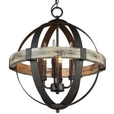 Artcraft Lighting Ac10016 Aspen Wrought Iron Globe Chandelier 4 Light Lighting