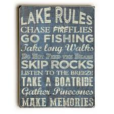 lake rules wall decor by artlicensing on free on orders over 45 16624984
