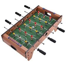 Miniature Wooden Foosball Table Game 100 Indoor Competition Game Football Table w Legs Foosball 53