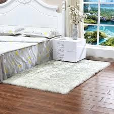 faux fur rug black bear purple grey throw bedroom rugs interior mongolian best sheepskin white fluffy