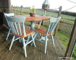 Farmhouse Kitchen Tables Uk Solid Round Pine Kitchen Dining Farmhouse Table With 4 Chairs