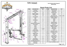 tp11kac parts breakdown replacement parts for 11 000lb 2 post lift tp11kac parts breakdown replacement parts for 11 000lb 2 post lift