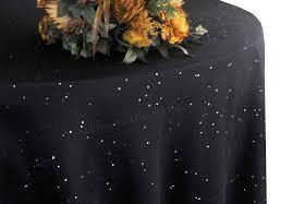 132 round paillette poly flax burlap tablecloths 10 colors