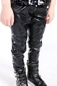 spring autumn fashion baby boys kids faux leather rivets pants casual slim children stage performances black trousers