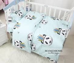 3pcs set new design baby bedding set crib cotton bedding set indian panda pattern for baby girls and boys