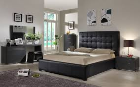 Bedroom Furniture  Modern Black Bedroom Furniture Compact - Black and walnut bedroom furniture