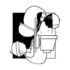 線画 ちょっぴり個性的な商用ok無料イラスト素材 The Drawers