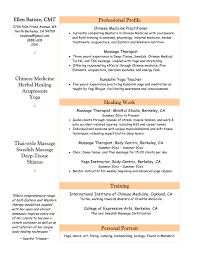 Self Employed Massage Therapist Resume Resume Examples For Massage