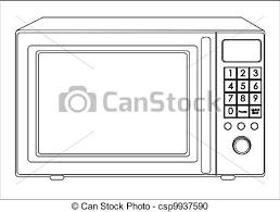 microwave clipart black and white. illustration of a microwave - csp9937590 clipart black and white o