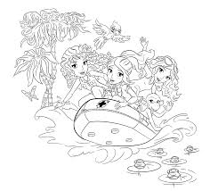 Lego Rubber Boat Coloring Page For Girls Printable Free Lego