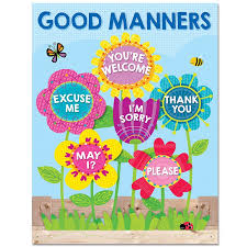 Creative Charts For School Garden Of Good Manners Chart