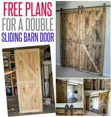 diy sliding double barn doors reclaimed wood infarrantlycreative