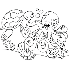 Under The Ocean Coloring Pages Free Printable Ocean Scene Coloring